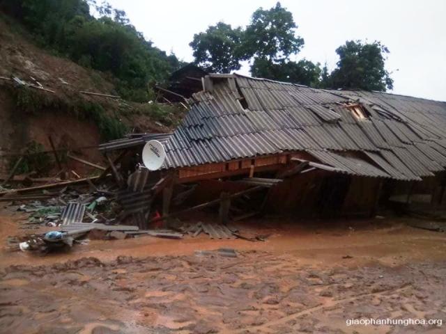 Lũ lớn gây thiệt hại nặng nề tại giáo xứ Vĩnh Quang, Giáo phận Hưng Hoá