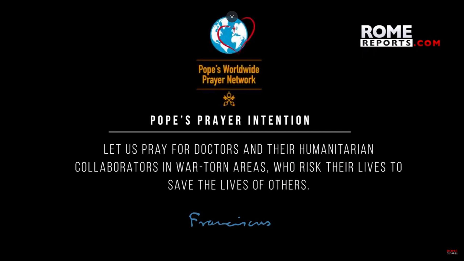 Ý cầu nguyện tháng Tư của ĐGH: các bác sĩ và tình nguyện viên làm việc trong vùng có chiến tranh