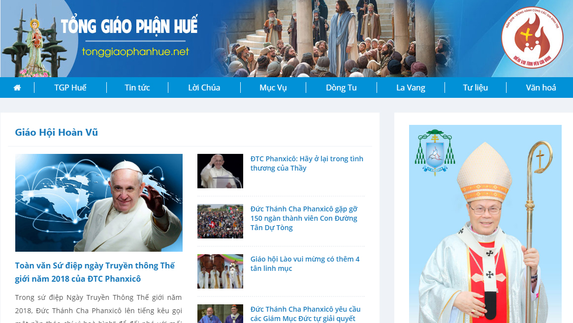 Thông báo ra mắt giao diện Website mới của TGP Huế