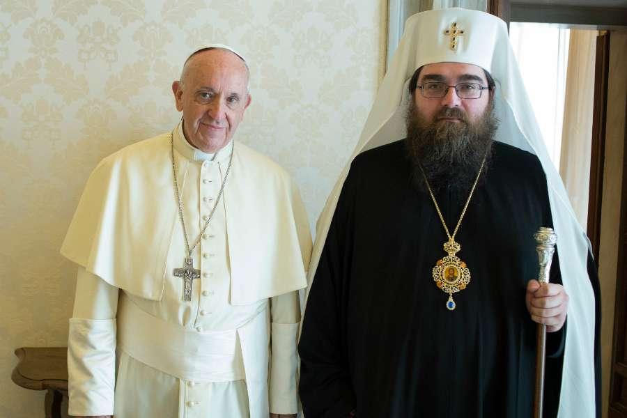 Đức giáo hoàng Phanxicô gặp Giáo chủ Giáo hội Chính thống Czech và Slovak
