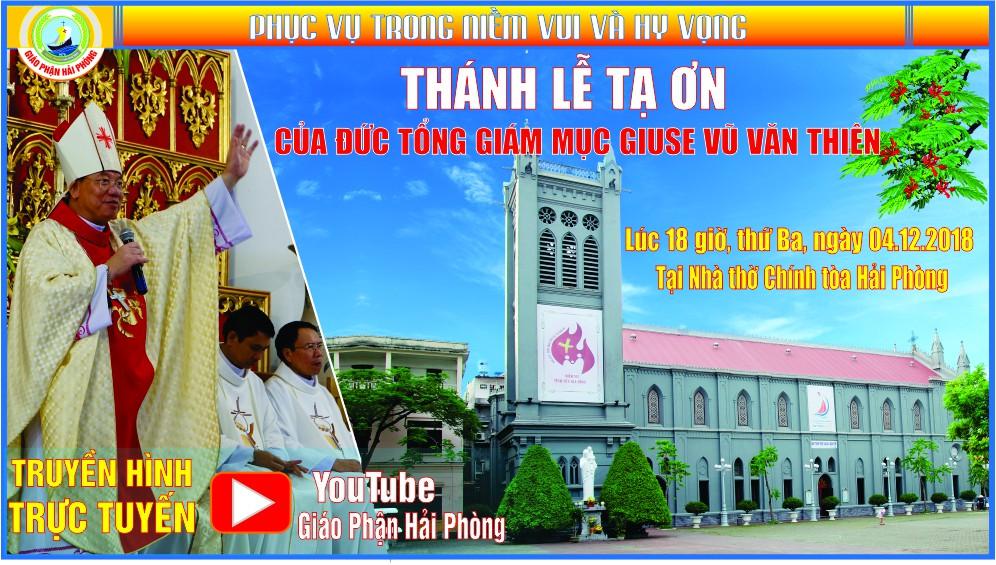 Đức Tổng Giám mục tân cử Giuse Vũ Văn Thiên dâng lễ tạ ơn