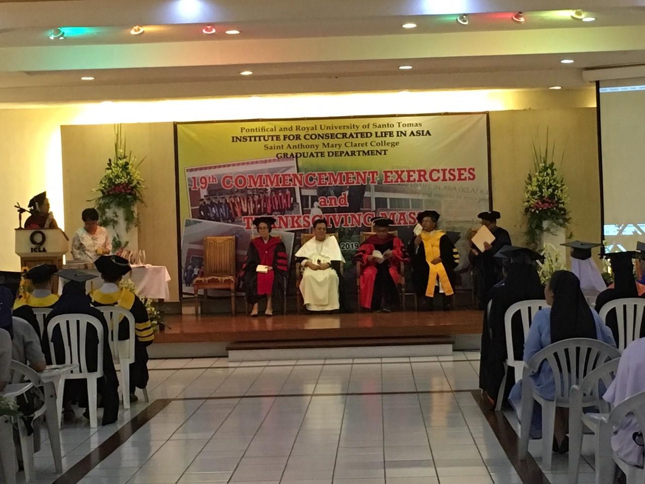 Thánh lễ tạ ơn và nghi thức tốt nghiệp tại Học viện Đời Sống Thánh Hiến Á Châu, Philippines