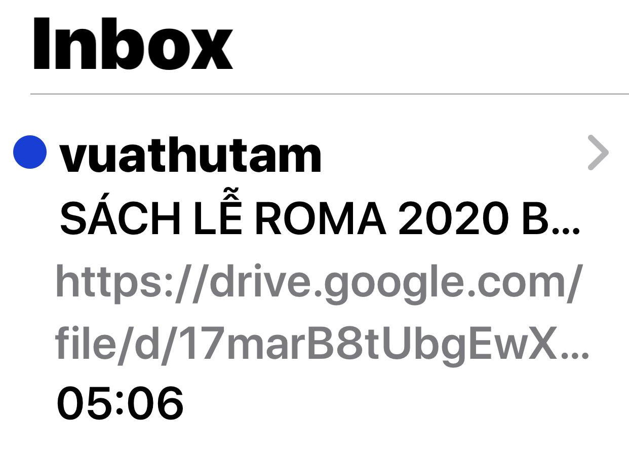 """Tin giả về """"SÁCH LỄ ROMA 2020"""""""
